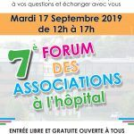 affiche 7e forum associations à l'hopital
